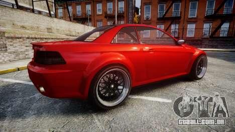 GTA V Ubermacht Sentinel XS para GTA 4 esquerda vista