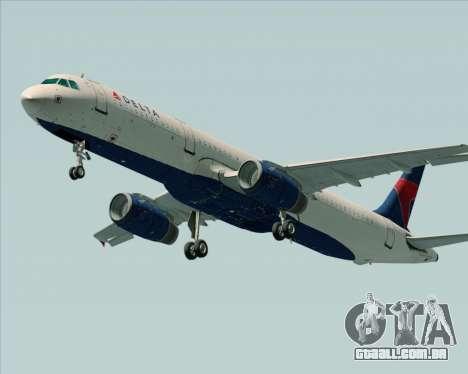 Airbus A321-200 Delta Air Lines para GTA San Andreas vista direita