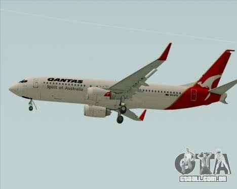 Boeing 737-838 Qantas (Old Colors) para GTA San Andreas vista traseira