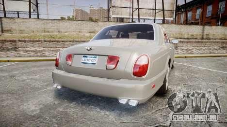 Bentley Arnage T 2005 Rims3 para GTA 4 traseira esquerda vista