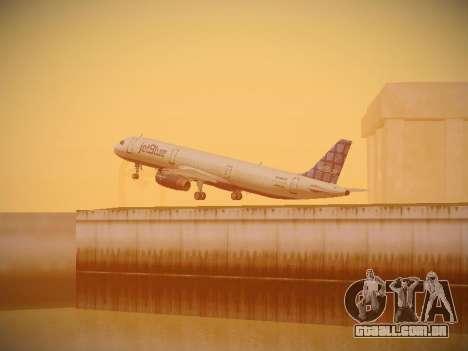 Airbus A321-232 jetBlue Blue Kid in the Town para GTA San Andreas vista superior