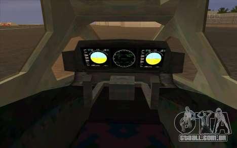 HELO4 Future Hunter para GTA San Andreas vista direita