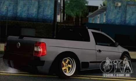 Volkswagen Saveiro Slammed para GTA San Andreas esquerda vista