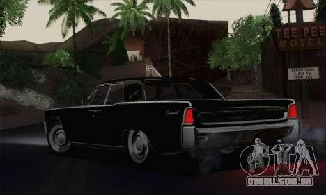 Lincoln Continental Sedan (53А) 1962 para GTA San Andreas traseira esquerda vista