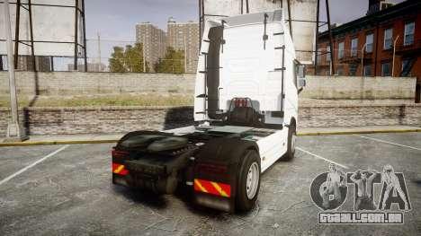 Volvo FH16 para GTA 4 traseira esquerda vista