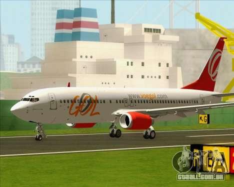 O Boeing 737-800 da Gol Transportes Aéreos para GTA San Andreas vista direita