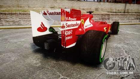 Ferrari F138 v2.0 [RIV] Massa TIW para GTA 4 traseira esquerda vista
