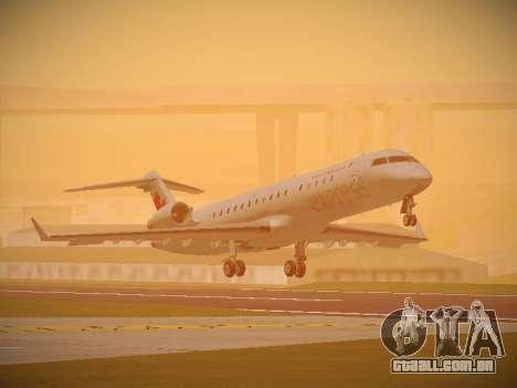 Bombardier CRJ-700 Air Canada Express para GTA San Andreas esquerda vista