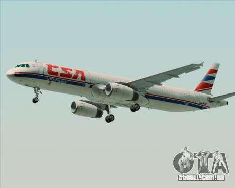Airbus A321-200 CSA Czech Airlines para GTA San Andreas vista direita