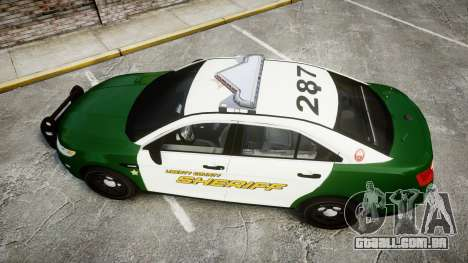 Ford Taurus 2014 Liberty City Sheriff [ELS] para GTA 4 vista direita