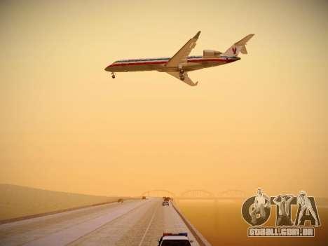 Bombardier CRJ-700 American Eagle para GTA San Andreas vista inferior