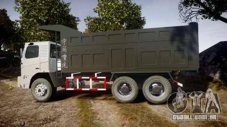 HOWO Truck para GTA 4 esquerda vista