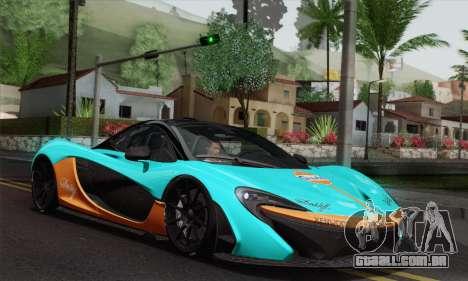 McLaren P1 HQ para GTA San Andreas vista superior