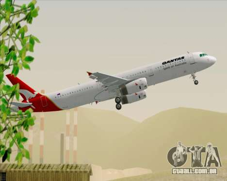 Airbus A321-200 Qantas para GTA San Andreas