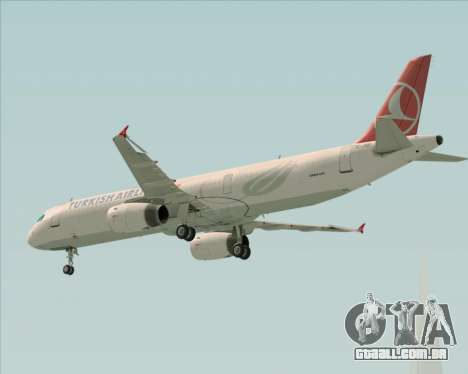 Airbus A321-200 Turkish Airlines para GTA San Andreas vista superior