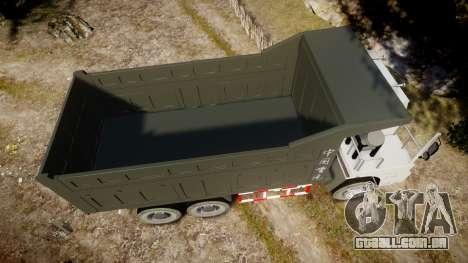 HOWO Truck para GTA 4 vista direita