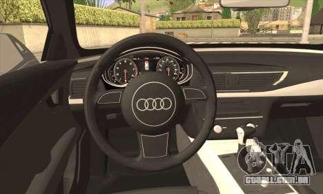 Audi A7 para GTA San Andreas traseira esquerda vista