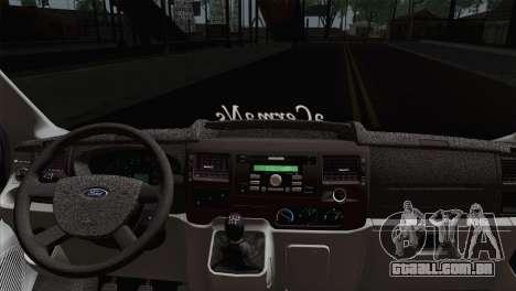 Ford Transit ACERMANS RC para GTA San Andreas traseira esquerda vista