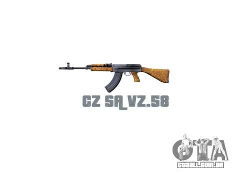 Máquina de CZ SA Vz.58 icon3 para GTA 4 terceira tela