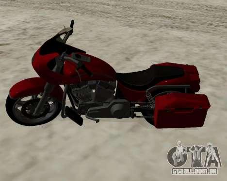 Bagger para GTA San Andreas vista traseira