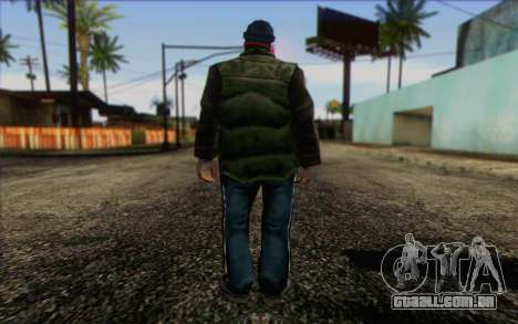 Vagabonds Skin 1 para GTA San Andreas segunda tela