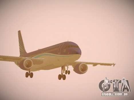 Airbus A320-214 Azerbaijan Airlines AZAL para GTA San Andreas esquerda vista