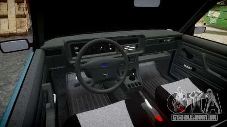 UTILIZANDO-2107 hobo para GTA 4 vista interior