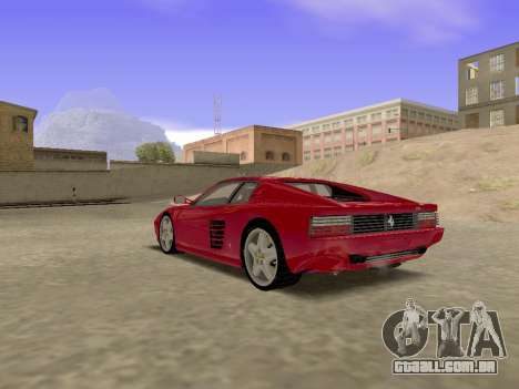Ferrari 512TR para GTA San Andreas esquerda vista