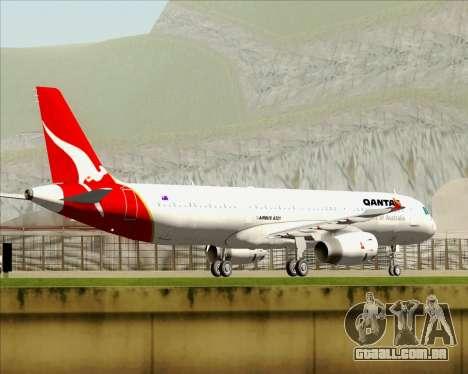 Airbus A321-200 Qantas para o motor de GTA San Andreas