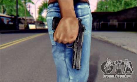 Beretta M92F para GTA San Andreas terceira tela