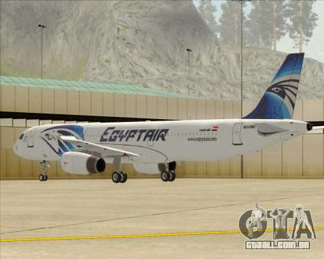 Airbus A321-200 EgyptAir para as rodas de GTA San Andreas