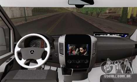 Mercedes-Benz Sprinter Etiket Kamyonet para GTA San Andreas traseira esquerda vista