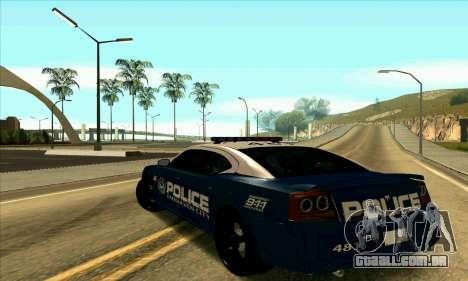 FCPD Dodge Charger SRT8 para GTA San Andreas esquerda vista