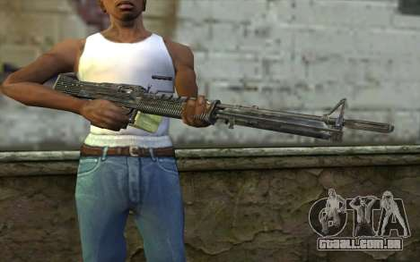M60 from Battlefield: Vietnam para GTA San Andreas terceira tela
