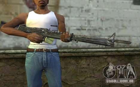 M60 from Battlefield: Vietnam para GTA San Andreas terceira tela