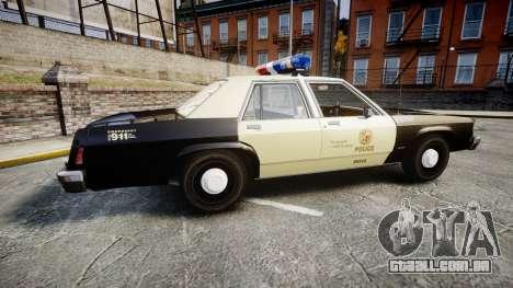 Ford LTD Crown Victoria 1987 LAPD [ELS] para GTA 4 esquerda vista