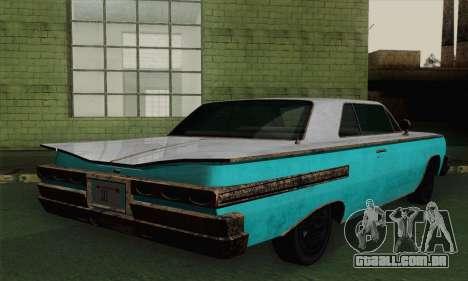 Declasse Voodoo para GTA San Andreas esquerda vista