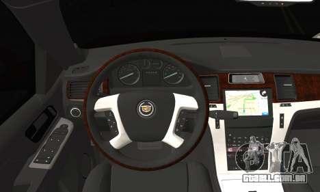 Cadillac Escalade ESV para GTA San Andreas traseira esquerda vista