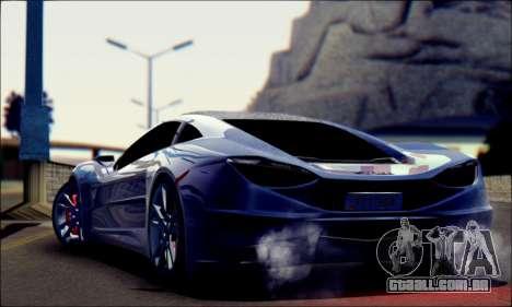 Shimmy Python 2012 para GTA San Andreas esquerda vista