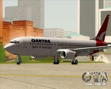 Boeing 737-838 Qantas (Old Colors) para GTA San Andreas esquerda vista