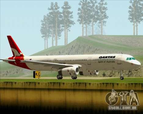 Airbus A321-200 Qantas para GTA San Andreas vista direita