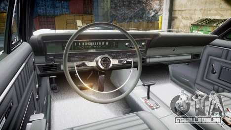 Ford Fairlane 500 1966 para GTA 4 vista de volta