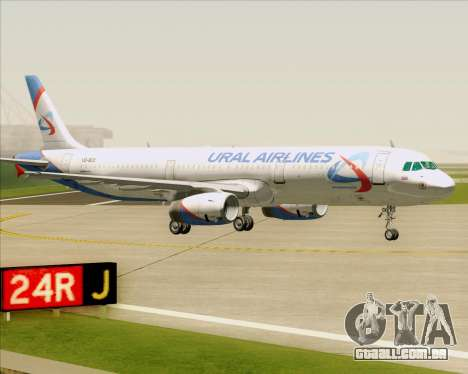 Airbus A321-200 Ural Airlines para GTA San Andreas vista inferior