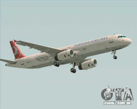 Airbus A321-200 Turkish Airlines para GTA San Andreas esquerda vista