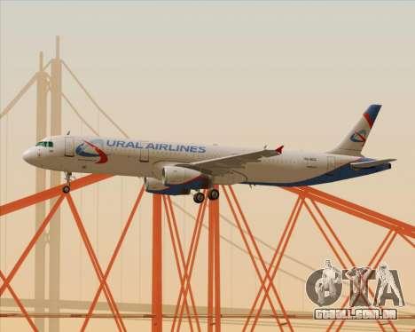 Airbus A321-200 Ural Airlines para GTA San Andreas vista superior