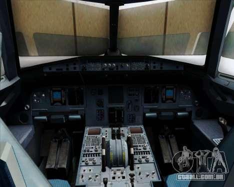 Airbus A320-232 United Airlines para GTA San Andreas interior