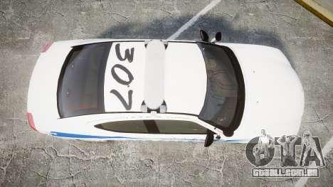 Dodge Charger 2010 PS Police [ELS] para GTA 4 vista direita
