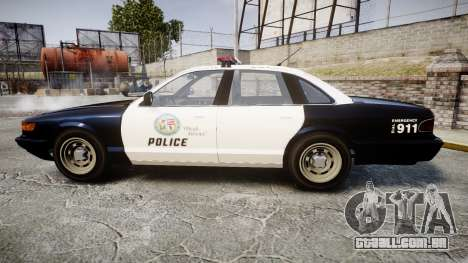 Vapid Police Cruiser GTA V LED [ELS] para GTA 4 esquerda vista