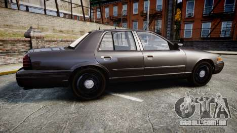 Ford Crown Victoria LASD [ELS] Unmarked para GTA 4 esquerda vista
