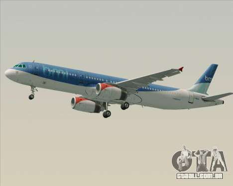 Airbus A321-200 British Midland International para as rodas de GTA San Andreas